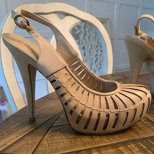 BCBG Platform slingback heels